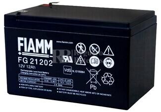 Batería para Scooter Eléctrico 12 Voltios 12 Amperios FIAMM FG21202