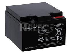 Bateria AGM Ciclica  para Scooter Electrico 12 Voltios 26 Amperios