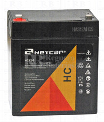 Batería AGM para Grúa Hospitalaria 12 Voltios 5 Amperios HEYCAR HC12-5