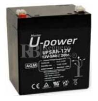 Batería AGM para Grúa Hospitalaria 12 Voltios 5 Amperios U-POWER NP5-12
