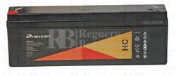 Batería para Grúa Hospitalaria 12 Voltios 2,2 Amperios HC12-2.2