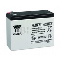 Batería AGM para Grua Hospitalaria 12 Voltios 10 Amperios YUASA REC10-12