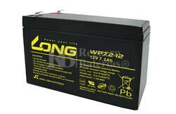 Batería para Alarma de 12 Voltios 7,2 Amperios LONG WP7.2-12
