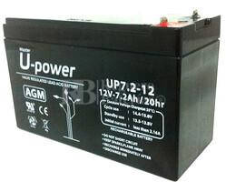 Batería para Alarma de 12 Voltios 7,2 Amperios U-POWER NPH7.2-12