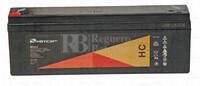 Batería para Alarma de 12 Voltios 2,2 Amperios HC12-2.2