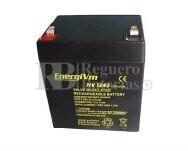 Batería para Alarma de 12 Voltios 5 Amperios ENERGIVM MV1250