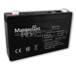 Batería para Alarma de 6 Voltios 7 Amperios U-POWER NP7-6