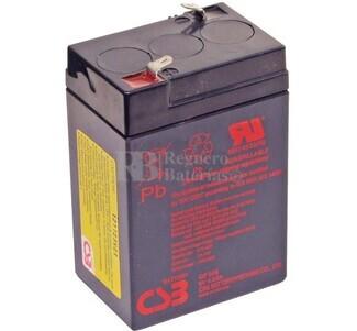 Batería para Alarma de 6 Voltios 4,5 Amperios CSB GP645