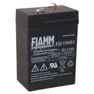 Batería para Alarma de 6 Voltios 4,5 Amperios FIAMM FG10451