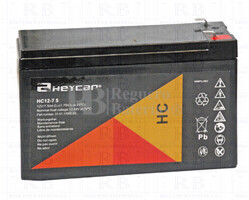Batería para Alarma de 12 Voltios 7,5 Amperios HEYCAR HC12-7.2