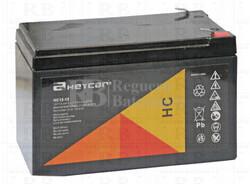 Batería para Alarma de 12 Voltios 12 Amperios HEYCAR HC12-12
