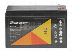 Batería para Alarma de 12 Voltios 7,2 Amperios HEYCAR HC12-7.2