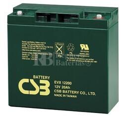 Bateria para Alarma de 12 Voltios 20 Amperios