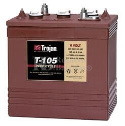 Bateria para apilador  6 Voltios 225 Amperios C20 264 x 181 x 272mm Trojan T-105 PLUS