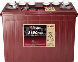 Bateria para apilador 12 Voltios 150 Amperios C20 348 x 181 x 283mm Trojan J150