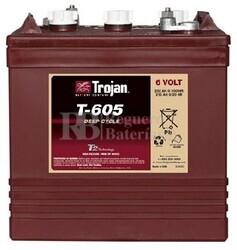 Bateria para apilador  6 Voltios 210 Amperios C20 262 x 181 x 283mm Trojan T-605