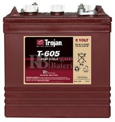 Bateria apilador 6 Voltios 210 Amperios Trojan T-605