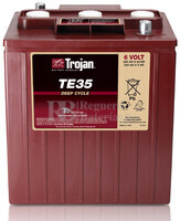 Bateria para apilador  6 Voltios 245 Amperios C20 244 x 191 x 269mm Trojan TE35