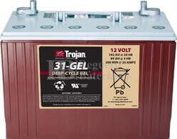 Bateria para apilador 12 Voltios 102 Amperios C20 329 x 173 x 245mm Trojan 31-GEL