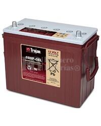 Bateria para apilador 12 Voltios 125 Amperios C20 345 x 172 x 280mm Trojan 5SHP-GEL