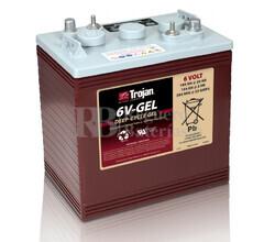 Bateria para apilador  6 Voltios 189 Amperios C20 260 x 180 x 275mm Trojan 6V-GEL
