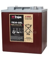 Bateria para apilador  6 Voltios 210 Amperios C20 245 x 191 x 271mm Trojan TE35-GEL