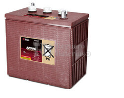 Bateria para Fregadora Barredora 6 Voltios 235 Amperios C20 309 x 174 x 290mm Trojan J250G