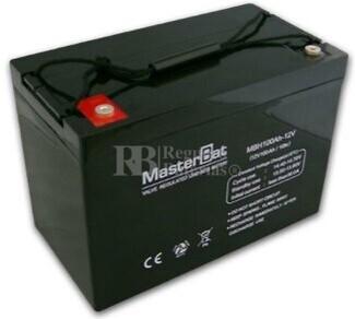 Batería para caravana 12 voltios 100 amperios Gel Conexión Tornillo