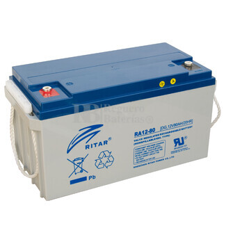 Bateria para caravana 12 voltios 80 amperios GEL Conexión Tornillo