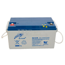 Bateria para caravana 12 voltios 65 amperios GEL Conexión Tornillo