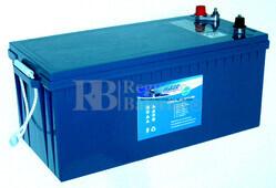 Bateria para caravana 12 voltios 200 amperios GEL Conexión Dual Borne y Tornillo