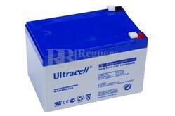 Batería de GEL  para Patines Eléctricos 12 voltios 12 amperios ULTRACELL UCG12-12