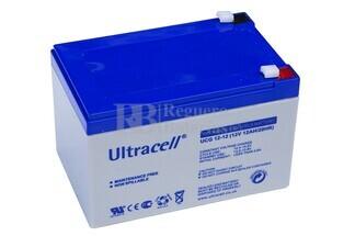 Batería de GEL para Scooter Eléctrico Gel 12 Voltios 12 Amperios ULTRACELL UCG12-12