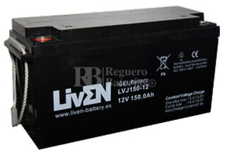 Bateria para caravana 12 voltios 150 amperios en GEL Conexión Tornillo