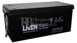 Bateria para caravana 12 voltios 200 amperios en GEL Conexión Tornillo