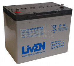 Bateria para caravana 12 voltios 70 amperios en GEL Conexión Tornillo