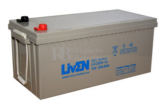 Batería Monoblock para instalacion solar en GEL 12 Voltios 260 Amperios C20 LVJ260-12 LIVEN