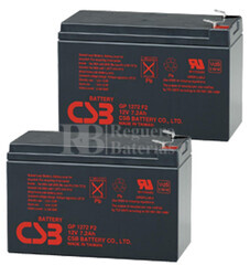 Baterías de sustitución para SAI LIEBERT POWERSURE INTERACTIVE PS 700MT