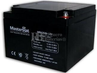 Batería SAI 12 Voltios 26 Amperios U-POWER UP26-12