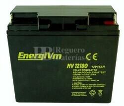 Batería de Plomo 12 Voltios 18 Amperios ENERGIVM MV12180