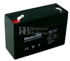 Batería 4 Voltios 3,5 Amperios U-Power MB3.5-4