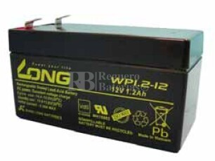 Bateria LONG AGM 12 Voltios 1,2 Amperios WP1.2-12 97x43x53 mm