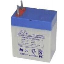 Bateria LEOCH LP4-0.4 AGM 4 Voltios 0.4 Amperios 35x22x40mm
