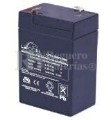 Bateria LEOCH LP6-4.5 AGM 6 Voltios 4.5 Amperios 70x47x100mm