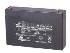 Bateria LEOCH LP6-7.0 AGM 6 Voltios 7 Amperios 151x34x94mm