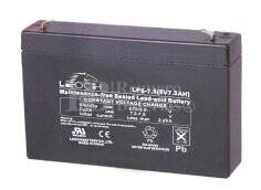 Bateria LEOCH LP6-7.5 AGM 6 Voltios 7.5 Amperios 151x34x94mm