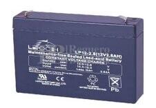 Bateria LEOCH LP12-2.8 AGM 12 Voltios 2.8 Amperios 132x33x98mm