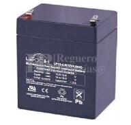 Bateria LEOCH LP12-4.0 AGM 12 Voltios 4 Amperios 90x70x101mm