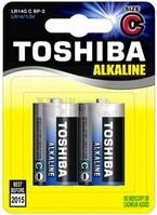 Blister 2 Pilas Alcalinas LR-14 Toshiba Blue Line