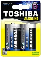 Pila Alcalina LR-20 Toshiba Blue Line Blister 2 Pilas
